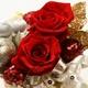 """メッセージ・プリザーブド★シャイニー・クリスマス★(レッド色)""""Happy Wedding"""" - 縮小画像3"""
