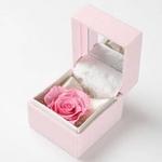 """メッセージ・プリザーブド★プチローザ(ピンク色BOX)★""""Happy Wedding"""""""