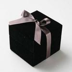 """メッセージ・プリザーブド★プチローザ(黒色BOX)★""""Thank you"""""""