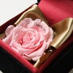 """メッセージ・プリザーブド★プチローザ(黒色BOX)★""""Happy Wedding"""""""