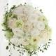 Royal Wedding ホワイト・ローズ 「ロザリウム・宮崎惠美子さん」のラウンドブーケ (25ansウエディング掲載商品) ブートニア付 - 縮小画像1