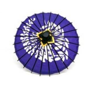 ミニ和傘 フジ柄 紫