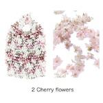 HAM-15絞りバッグ Cherry flowers