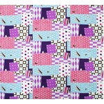 WADACHI風呂敷(大) Patch work 紫