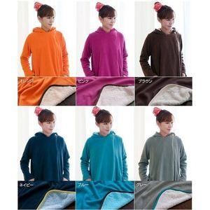 着る毛布(ブランケット) NuKME(ヌックミィ) アクティブスタイル ゆったりフレア ブラウン