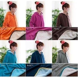 着る毛布(ブランケット) NuKME(ヌックミィ) アクティブスタイル すっきりスリム オレンジ