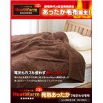 Heat Warm(ヒートウォーム) 発熱あったか2枚合わせ毛布 シングル ブラウン