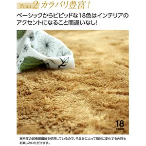 E×マイクロファイバー洗えるラグマット (140×200cm) グレー