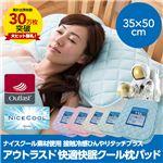 接触冷感ナイスクール素材使用アウトラスト(R)快適快眠クール枕パッド 同色2枚組 ミント