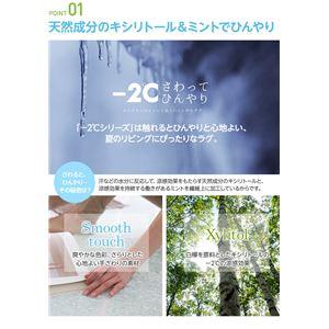 接触冷感-2℃ 涼感ラグ サイクロンS(防ダニ・抗菌・接触冷感機能付) 130×190cm グリーン
