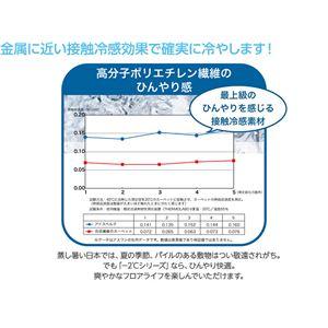 接触冷感-2℃ 涼感ラグ アイスベルク(防ダニ・抗菌・接触冷感・手洗い可) 190×190cm ベージュ 日本製