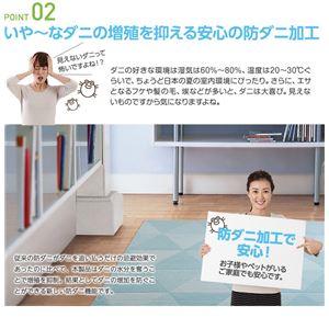 接触冷感-2℃ 涼感ラグ アイスベルク(防ダニ・抗菌・接触冷感・手洗い可) 190×190cm ベージュ