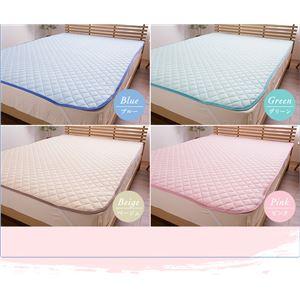 mofua(natural) 綿100% ICECOTTON 涼感敷パッド セミダブル ピンク