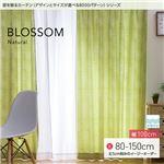 窓を飾るカーテン ナチュラル BLOSSOM(ブロッサム) 遮光2級 形態安定 (MZ) 幅100cm×丈95cm(2枚組) グリーン