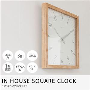 IN HOUSE SQUARE CLOCK スクエアクロック ウォールナット×ウォールナット