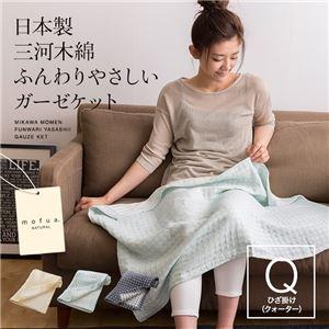 mofua natural 日本製 三河木綿 ふんわりやさしいガーゼケット ひざ掛け ネイビー