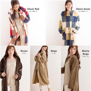 mofua プレミアムマイクロファイバー着る毛布 フード付 (ルームウェア) 着丈110cm ネイビー