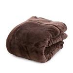 mofua あったかさをためこむ4層毛布 シングル ブラウンの画像
