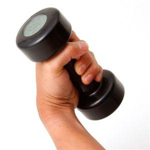ダンベルアラームクロック【fitness】目覚まし時計 ブラック
