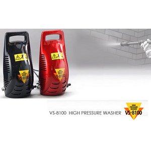 【自動車、外壁、網戸の掃除に!】VERSOS(ベルソス) 高圧洗浄機 VS-8100 ブラック - 拡大画像