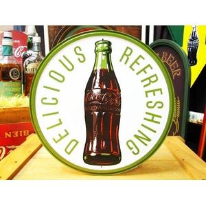 アメリカンブリキ看板 コカコーラ 1960年代ボトル&ロゴ