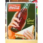 アメリカンブリキ看板 コカコーラ 食べ物にピッタリ