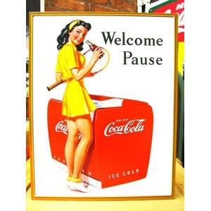 アメリカンブリキ看板 コカコーラ ようこそ!