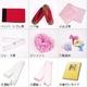 ★雑誌掲載★浴衣10点セット モダンブラックに躍るピンク牡丹とコズミックハート 写真2