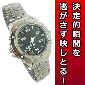 小型カメラ 腕時計型 ビデオカメラ激安!高性能のシルバータイプ 8GB[BW-M2]
