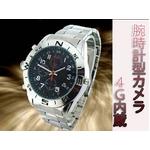 【小型カメラ】動画も静止画もOK!腕時計型ビデオカメラ 4G内蔵
