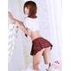 コスプレ 赤チェックスカート付大きいリボンの女子制服 写真2