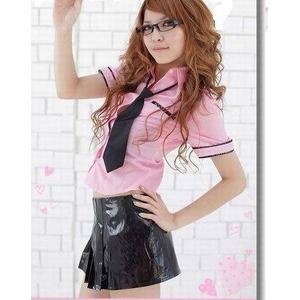 コスプレ ピンクブラウスの女子制服 学生服