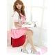 コスプレ 大きいリボンの女子制服 セーラー服 ピンク - 縮小画像3