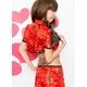 コスプレ ガーター付チャイナドレス 赤 セクシー 写真4