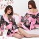 コスプレ 艶やかなピンク豪華着物 浴衣 可愛い和装ドレス - 縮小画像1