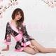 コスプレ 艶やかなピンク豪華着物 浴衣 可愛い和装ドレス - 縮小画像2