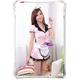 コスプレ リボンカチューシャ付メイド服 ピンクのスーツ - 縮小画像2