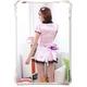 コスプレ リボンカチューシャ付メイド服 ピンクのスーツ - 縮小画像4