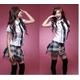 コスプレ 女子制服 学生服 パニエ入り黒チャックスカート