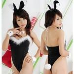 コスプレ 蝶リボン&ウサギのシッボ付可愛いバニーガール