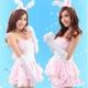 ピンク色のワンピース バニーガール 写真2