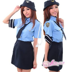 コスプレ 婦警 リアル交通課婦警さん制服 婦人警官さん - 拡大画像