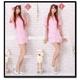 コスプレ ピンクのナース制服キャップ付 看護婦のコスチューム 写真1