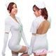 コスプレ ナース制服ワンピ5点セット(グローブ2個 キャップ Tバック ワンピ)看護婦のコスチューム