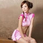コスプレ ピンク色のチャイナドレスセット カンフー