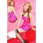 コスプレ セクシーチャイナドレス 艶やかなピンクドレス