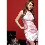 コスプレ ピンクのチャイナドレス 背中セクシーリボンキュート