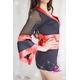 コスプレ 赤×黒の豪華着物 浴衣 和物 袖シースルー - 縮小画像3