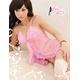 ランジェリー ピンクのフリフリワンピ ベビードール&ショーツ - 縮小画像2