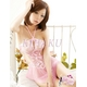 ピンクのランジェリー ベビードール&ショーツ コスチューム 写真1